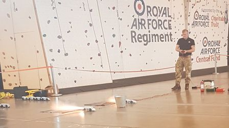 Wayland Academy pupils model rocket powered cars being tested at RAF Honington. Picture: Ten Group