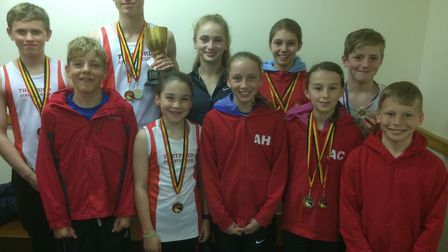 Thetford Athletics Club competitors at the Norfolk County Track and Field Championships. Picture: Ma