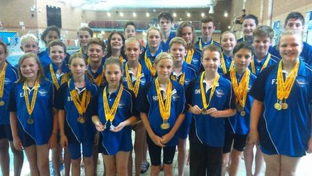 Thetford Dolphins did their club proud in the Norfolk County Challenge Gala. Picture: Karen Darton