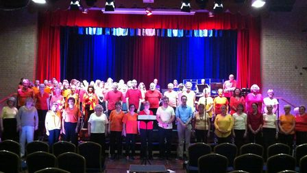 The Thetford Singers and pupils from Admirals Academy take part in Zimbe! in 2016. Picture: Thetford