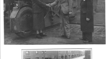 Donny Smith was pictured in the 1953 floods and his daughter then sent in photograph of him with La