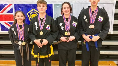 Kuk Sool Won of Thetford competitors who did their club proud at the UEA Sportspark. Picture: Club