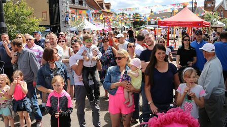 Brandon Carnival crowds on London Road. Picture: Terry Hawkins