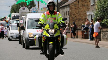 A rider from Service by Emergency Response Volunteers (SERV) Suffolk & Cambridgeshire. Picture: Terr