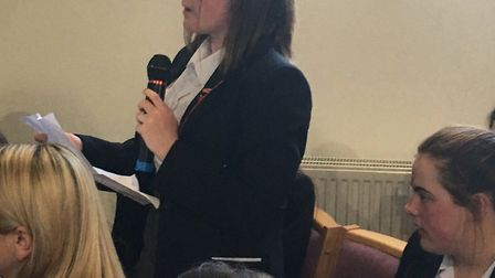 Students from Ormiston Venture Academy ask questions at local hustings