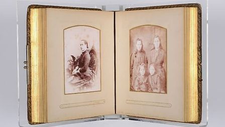 Photo album owned by Duleep Singh's son, Prince Frederick Duleep Singh. Picture: Ancient House Museu