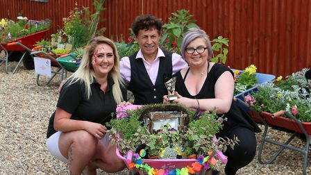Brandon in Bloom's Blooming Barrows public vote winners. Sam Foster and Becci Maling, from Danniis D