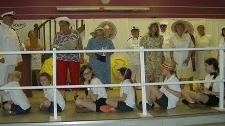 Weeting All Star Performers preparing for the show Ticket to Ride. Picture: Weeting All Star Perform