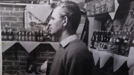Alan Ray working behind the counter at the Greasy Spoon cafe.Picture: Russell Ray