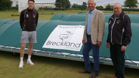 Thetford Cricket Club bought new covers and a batting cage with a £9,000 grant from Breckland Counci