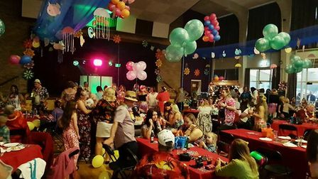 The Hawaiian beach party hosted by Old Skool Bar at the Charles Burrell Centre. Picture: Terry Jermy