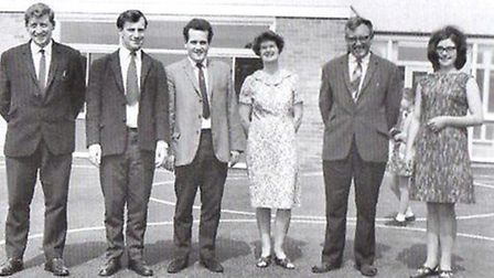The Bradwell (Hillside) teachers in 1968. Picture: HILLSIDE SCHOOL