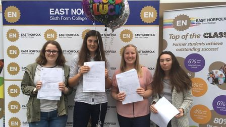 Ellie Wilson, Charlotte Beane, Rose McNelly and Gigi Nicolson achieved ten A*s and three A's between