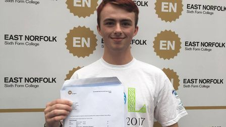 Alfie Vaughan is very pleased with his results and is looking forward to studying at Cambridge Unive