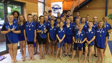 The Thetford Dolphins contingent at the Nifty 50 Open Meet, which saw plenty of impressive performan