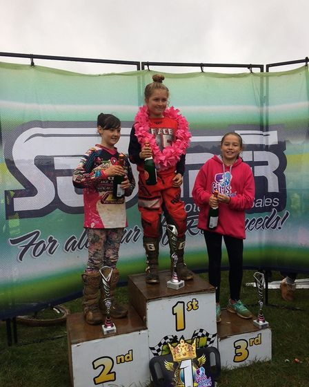 Kara Quinn from Mildenhall Academy takes part in a motocross event. Picture: QUINN FAMILY