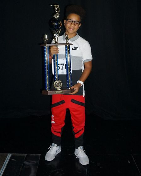 Isaac Pinto, 12, was crowned winner in his solo for the under-14 category at the UDO World Street Da