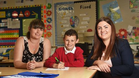 Letter writer Kai Morris, 9, from Alderman Swindell School. Pictured with his mum Sandy Lysaght, lef