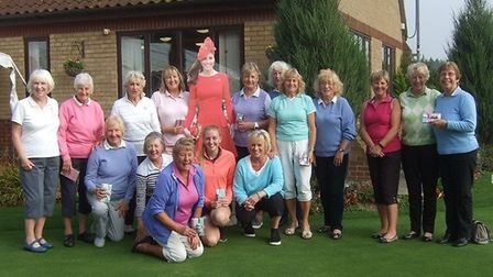 There's a Royal touch as the winning team line up at Swaffham. Left to right, back row: Lu Claridg