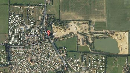 Google Map view of Welcome Pit, in Butt Lane, Burgh Castle.