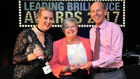 Debbie Bishop receives her award.Picture: Steve Hodgkin/Chadwicks