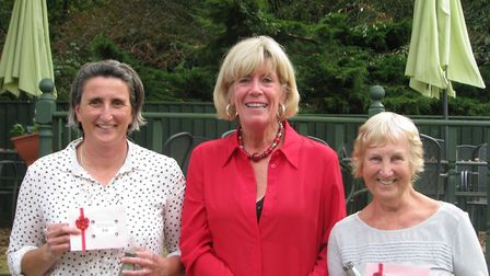Thetford''s Autumn Closed meeting winners Shelly Pleasance (left) and Olive Hambling with their priz