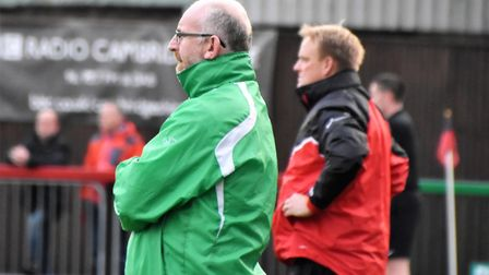 Stewart Larter watches the Greens in action at Histon. Picture: David Hardy