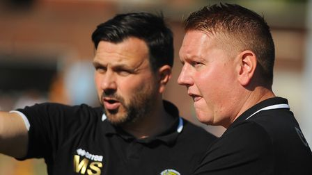 Great Yarmouth joint managers Martyn Sinclair, left, and Adam Mason. Picture: DENISE BRADLEY
