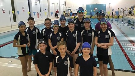 The Great Yarmouth SC teams at the November Novice Gala held by Lowestoft & Oulton Broad SC. Pictur