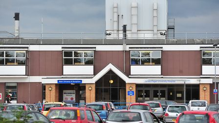 The road rage incident happened by the James Paget University Hospital, Gorleston, Norfolk.
