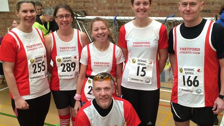 The Thetford AC contingent at the Scenic 7 race. Picture: Club