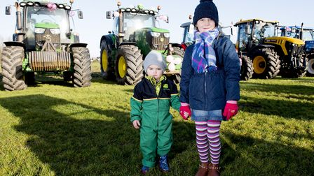 Freya Dickerson with her cousin William Stimpson. Picture: Nick Butcher