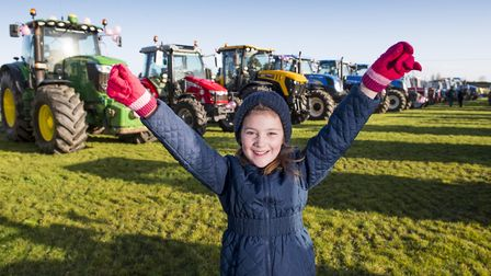 Freya Dickerson, 5, enjoys looking at all the tractors. Picture: Nick Butcher