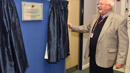 Former principal at East Norfolk Sixth Form, John Adnitt opens a new centre at the college.Byline: S