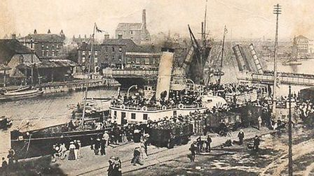 Bankers' bonus! The Great Yarmouth Hall Quay banks enjoyed river views and seeing crowds meeting pas