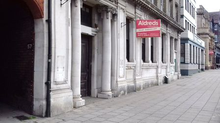 Are two time capsules still concealed in this empty Lloyds Bank branch on Hall Quay? Picture: PEGGOT