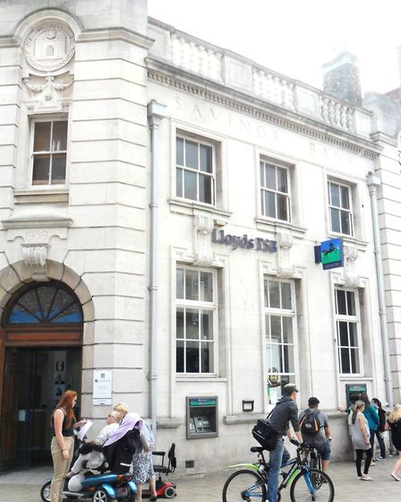 The former Trustee Savings Bank in the Market Place, later occupied by Lloyds but now closed. Pictur