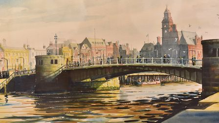 Great Yarmouth and District Society of Artists 90th anniversary art exhibition at Yarmouth library.P