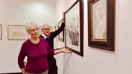 Great Yarmouth and District Society of Artists 90th anniversary art exhibition at Yarmouth library.R