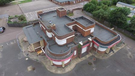 An aerial photo of the Iron Duke pub in North Denes area of Great Yarmouth. Photo: Sean Armstrong