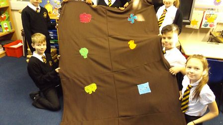 The pupils made Christmas blankets for the residents at the Fishermen's Hospital.Picture: St Nichola