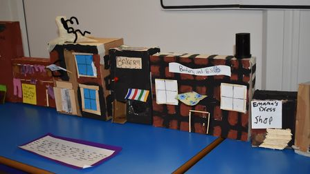 Pupils at Peterhouse created a school museum reflecting their history topics.Picture: Ryan Freeman