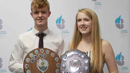 Max Burgess and Caitlin Whittington.Picture: Mel Simm/Caister Academy