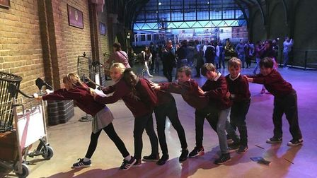 The children from North Denes enjoyed thier day at the Harry Potter tour.Picture: Hanna Johnson