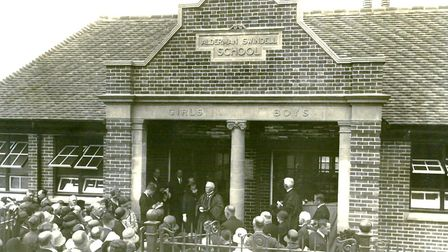 Modern and needed: the new Alderman Swindell School is formally opened in Great Yarmouth in 1929. Pi