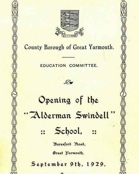 The programme card for the opening ceremony. Picture: ALDERMAN SWINDELL SCHOOL