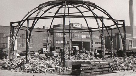 Another herring industry reminder, the rotunda (round-house) on the South Denes being demolished in