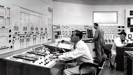 The generation game: the control room of Yarmouth's new South Denes power station in 1958, a year af