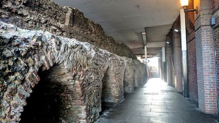The alleyway underneath the Market Gates shopping centre in Great Yarmouth. Photo: George Ryan
