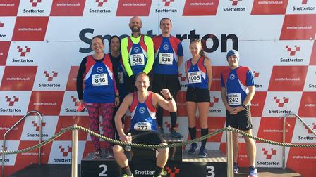 Great Yarmouth Road Runners at the Snetterton Half Marathon. Picture: Penny Studley